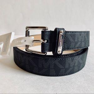 Michael Kors Logo Dress Belt Black/Sz:L/NWT